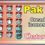 Pak 17 – Generador de iconos y botones de redes sociales para Chaturbate