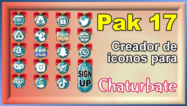 Pak 17 - Generador de iconos y botones de redes sociales para Chaturbate