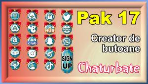 Pak 17 – Generator de butoane și pictograme pentru Chaturbate