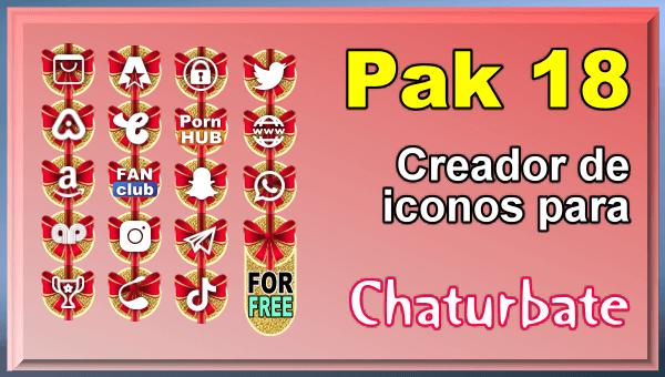 Pak 18 - Generador de iconos y botones de redes sociales para Chaturbate