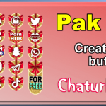 Pak 18 – Generator de butoane și pictograme pentru Chaturbate