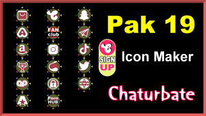 Pak 19 – FREE Chaturbate Social Media Button and Icon Maker