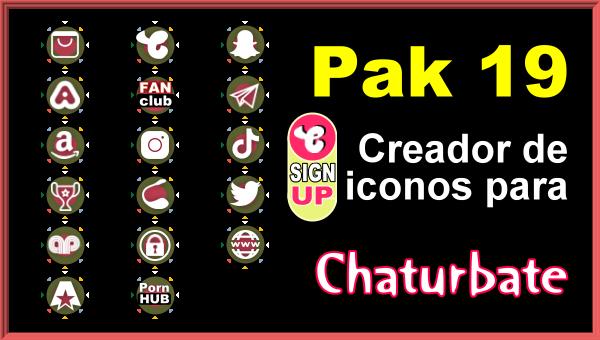 Pak 19 - Generador de iconos y botones de redes sociales para Chaturbate