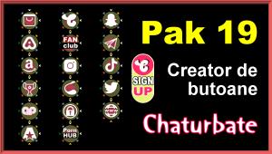 Pak 19 – Generator de butoane și pictograme pentru Chaturbate