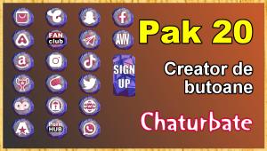 Pak 20 – Generator de butoane și pictograme pentru Chaturbate