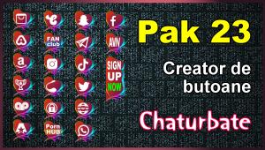 Pak 23 – Generator de butoane și pictograme pentru Chaturbate