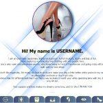 Design 43 – Chaturbate BIO profile already created