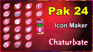 Pak 24 – FREE Chaturbate Social Media Button and Icon Maker