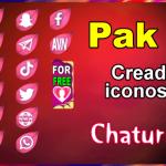 Pak 24 – Generador de iconos y botones de redes sociales para Chaturbate