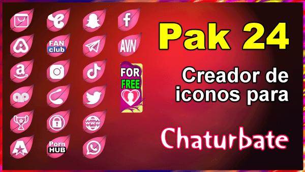 Pak 24 - Generador de iconos y botones de redes sociales para Chaturbate