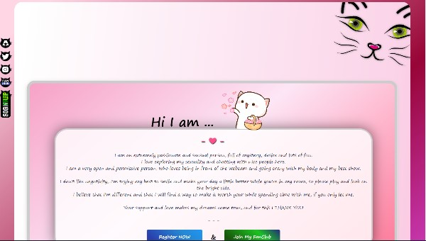 Desen 46 – profil VideoChat deja creat pentru Chaturbate