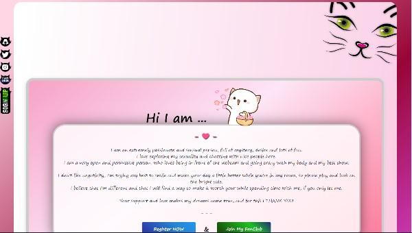 Design 46 – Chaturbate BIO profile already created