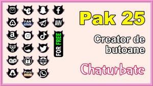 Pak 25 – Generator de butoane și pictograme pentru Chaturbate