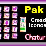 Pak 27 – Generador de iconos y botones de redes sociales para Chaturbate