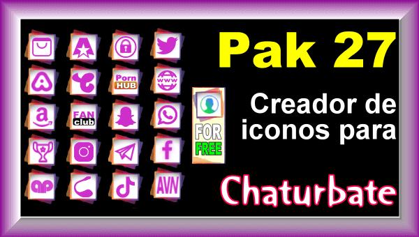 Pak 27 - Generador de iconos y botones de redes sociales para Chaturbate
