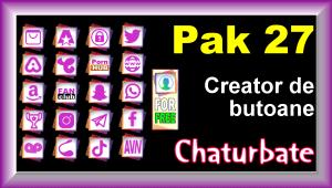Pak 27 – Generator de butoane și pictograme pentru Chaturbate