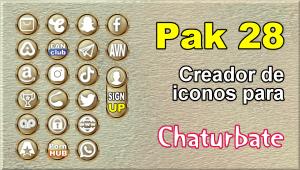 Pak 28 – Generador de iconos y botones de redes sociales para Chaturbate
