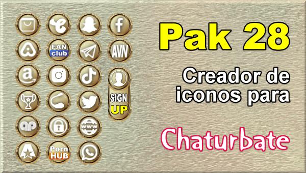 Pak 28 - Generador de iconos y botones de redes sociales para Chaturbate
