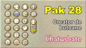 Pak 28 – Generator de butoane și pictograme pentru Chaturbate