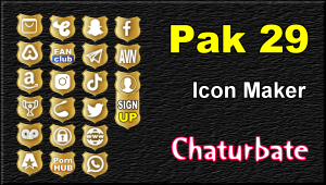 Pak 29 – FREE Chaturbate Social Media Button and Icon Maker