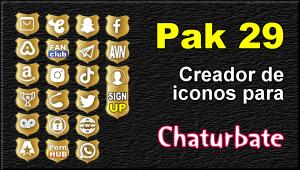 Pak 29 – Generador de iconos y botones de redes sociales para Chaturbate