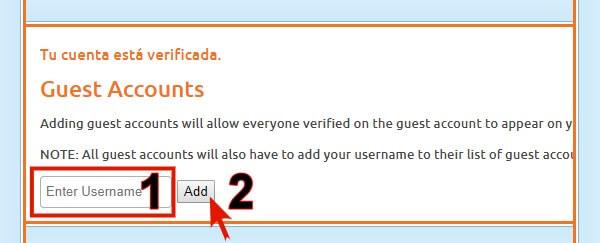 tutorial para crear cuentas de invitados en chaturbate