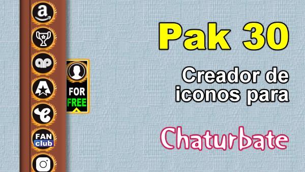 Pak 30 - Generador de iconos y botones de redes sociales para Chaturbate
