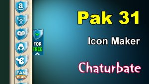 Pak 31 – FREE Chaturbate Social Media Button and Icon Maker