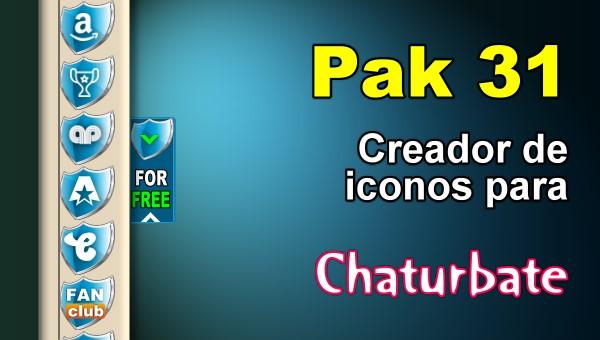 Pak 31 – Generador de iconos y botones de redes sociales para Chaturbate