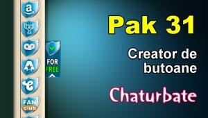 Pak 31 – Generator de butoane și pictograme pentru Chaturbate