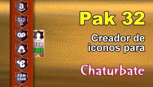 Pak 32 – Generador de iconos y botones de redes sociales para Chaturbate