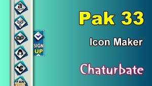 Pak 33 – FREE Chaturbate Social Media Button and Icon Maker