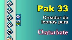 Pak 33 – Generador de iconos y botones de redes sociales para Chaturbate