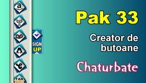 Pak 33 – Generator de butoane și pictograme pentru Chaturbate