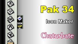 Pak 34 – FREE Chaturbate Social Media Button and Icon Maker