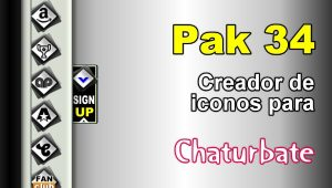 Pak 34 – Generador de iconos y botones de redes sociales para Chaturbate