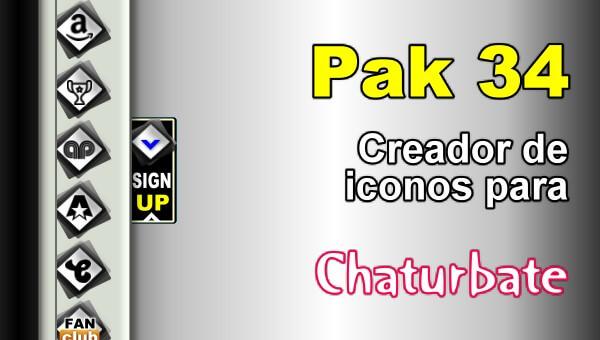 Pak 34 - Generador de iconos y botones de redes sociales para Chaturbate
