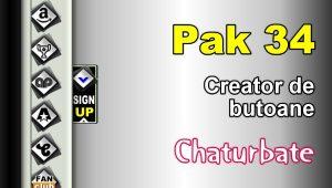 Pak 34 – Generator de butoane și pictograme pentru Chaturbate