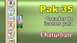 Pak 35 – Generador de iconos y botones de redes sociales para Chaturbate