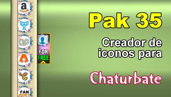 Pak 35 - Generador de iconos y botones de redes sociales para Chaturbate
