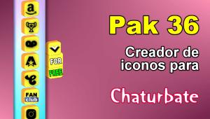 Pak 36 – Generador de iconos y botones de redes sociales para Chaturbate