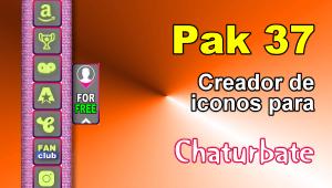 Pak 37 – Generador de iconos y botones de redes sociales para Chaturbate