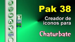 Pak 38 – Generador de iconos y botones de redes sociales para Chaturbate
