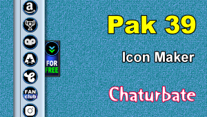 Pak 39 – FREE Chaturbate Social Media Button and Icon Maker