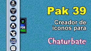 Pak 39 – Generador de iconos y botones de redes sociales para Chaturbate