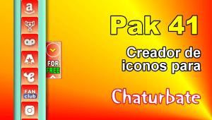 Pak 41 – Generador de iconos y botones de redes sociales para Chaturbate