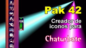 Pak 42 – Generador de iconos y botones de redes sociales para Chaturbate