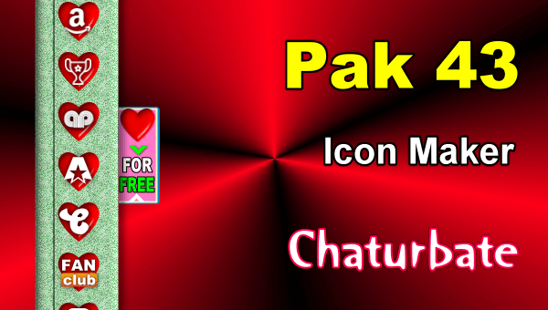 Pak 43 - FREE Chaturbate Social Media Button and Icon Maker