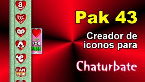 Pak 43 – Generador de iconos y botones de redes sociales para Chaturbate
