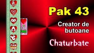 Pak 43 – Generator de butoane și pictograme pentru Chaturbate